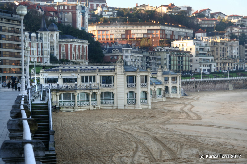 Donostia, La Concha Beach. January 25th 2012